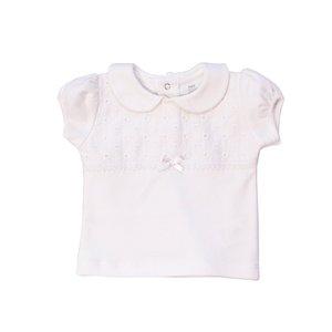 تی شرت نوزادی آستین کوتاه دخترانه پولونیکس طرح رز کد 21801-17