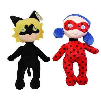 عروسک طرح دختر کفش دوزکی و پسر گربه ای کد 02 ارتفاع 30 سانتی متر مجموعه 2 عددی