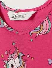 پیراهن دخترانه اچ اند ام مدل Unicorn-HP -  - 1