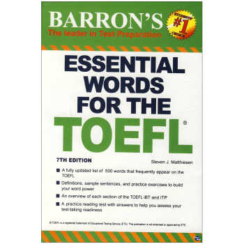 کتاب Essential Words for the toefl 7th Edition  اثر Steven J.Mattiesen انتشارات زبان مهر