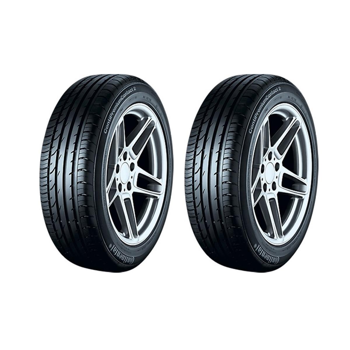 لاستیک خودرو کنتیننتال مدل conti premium contact2 سایز 205/55R16 - دو حلقه