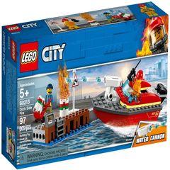 لگو سری City مدل Dock Side Fire 60213