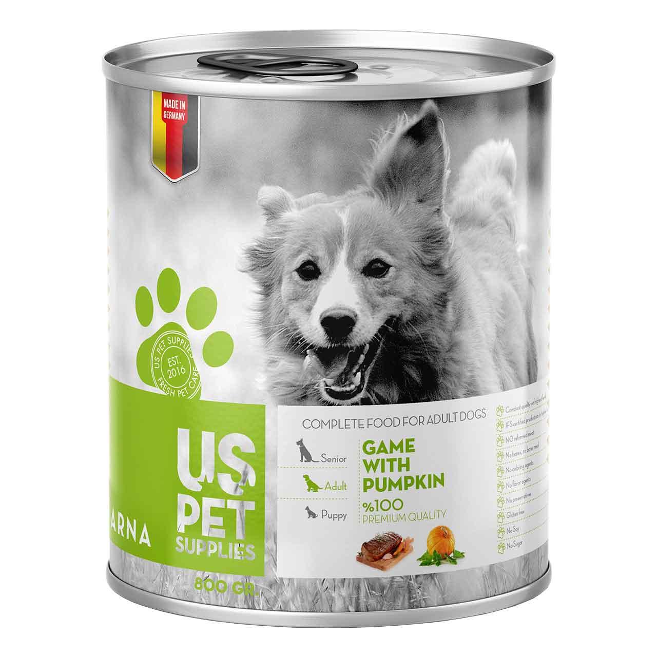 کنسرو غذای سگ یو اس پت کد 030 وزن 400 گرمی