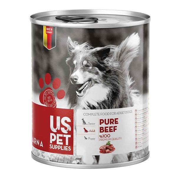 کنسرو غذای سگ یو اس پت کد 025 وزن 400 گرم