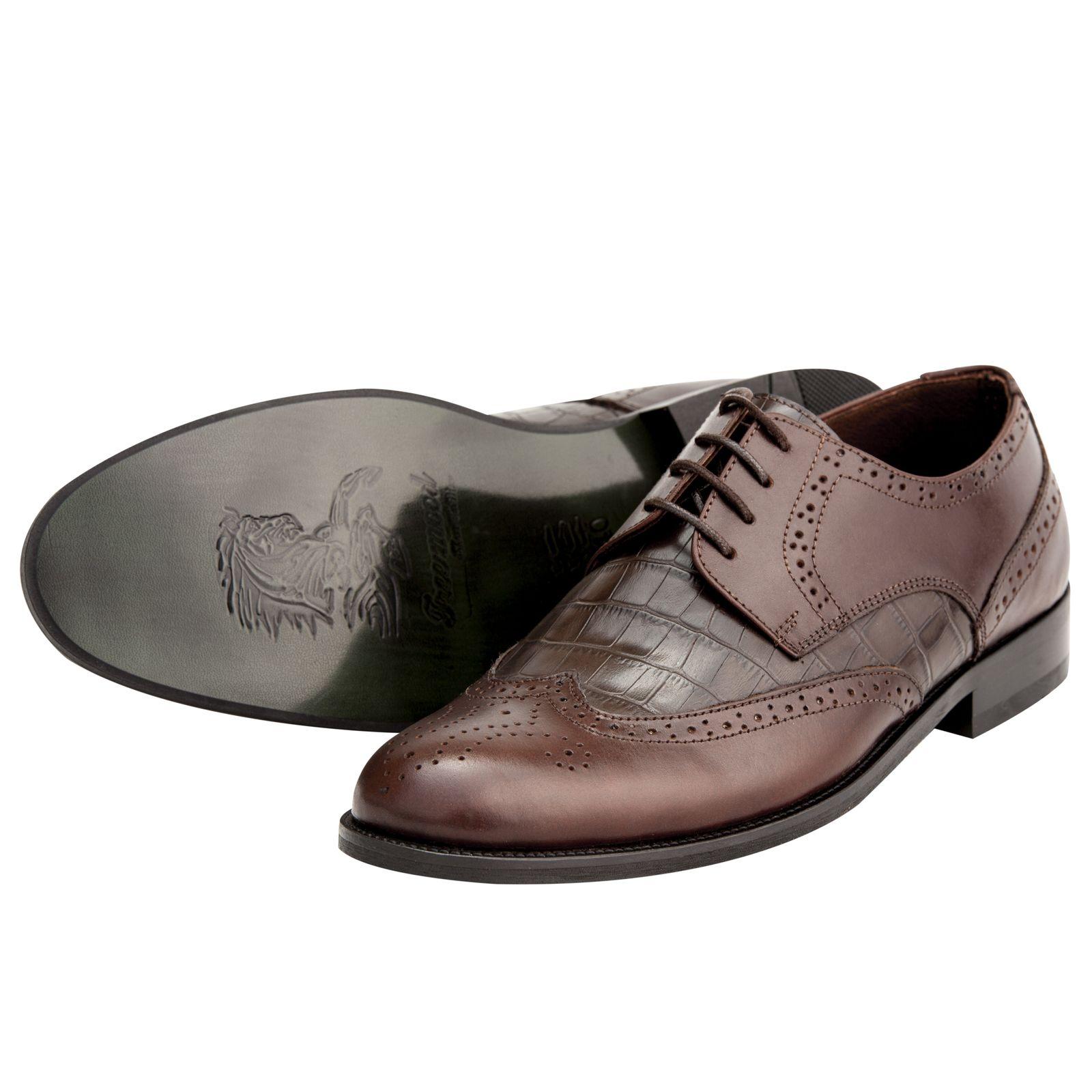 کفش مردانه فری مود کد 1518 رنگ قهوه ای -  - 1