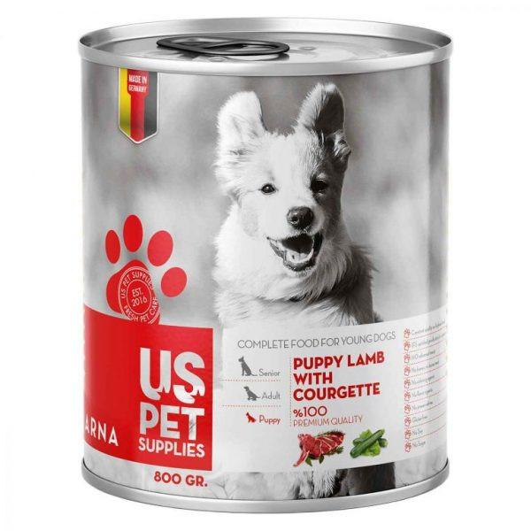 کنسرو غذای سگ یو اس پت کد 020 وزن 400 گرم