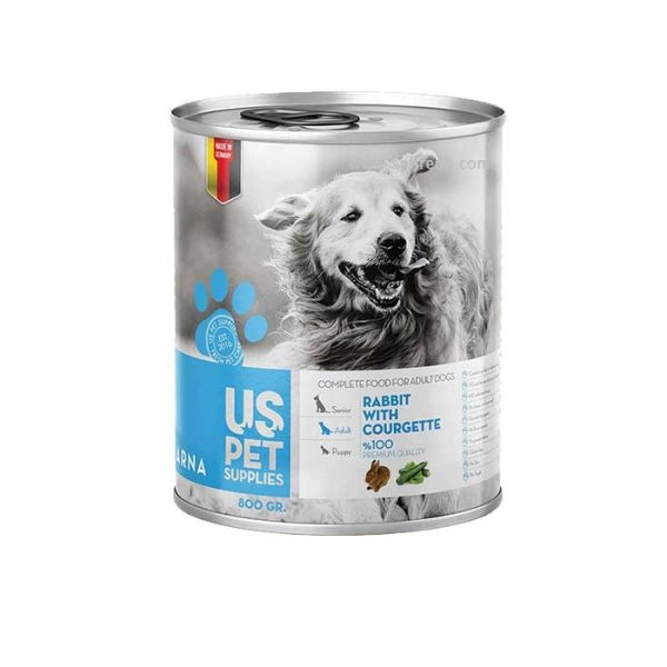 کنسرو غذای سگ یو اس پت کد 010 وزن 800 گرم