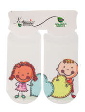 جوراب نوزاد کاتامینو طرح دختر و پسر کچل  -  - 1