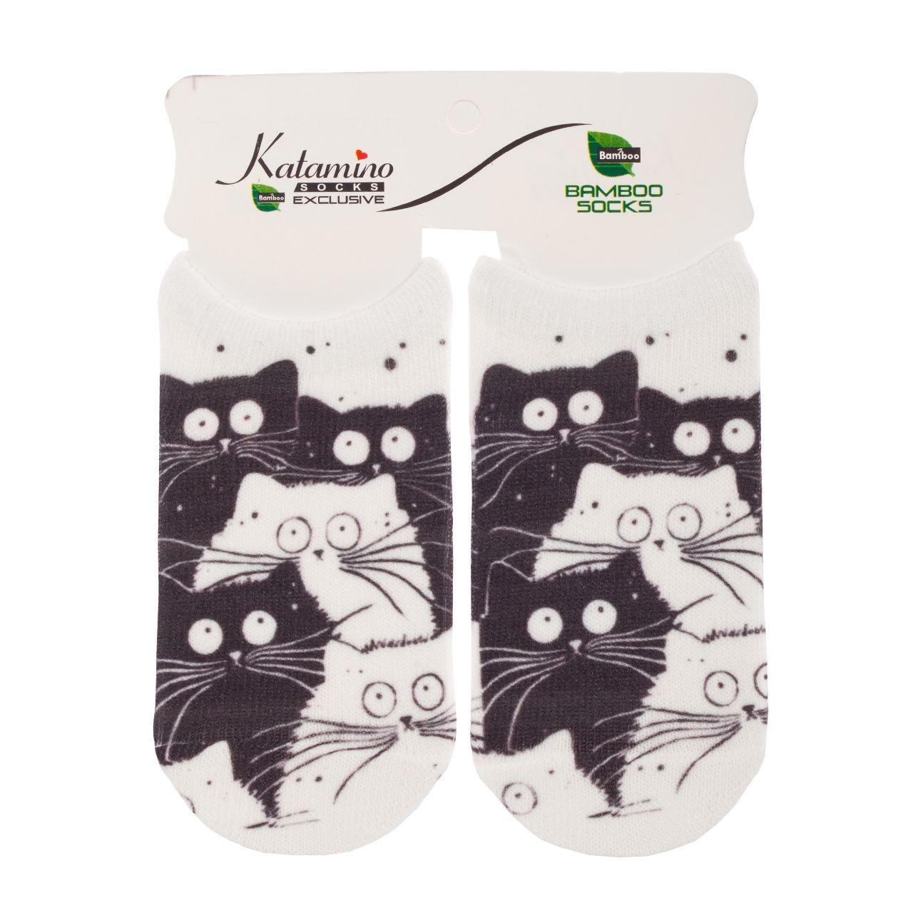 جوراب نوزاد کاتامینو طرح گربه -  - 1