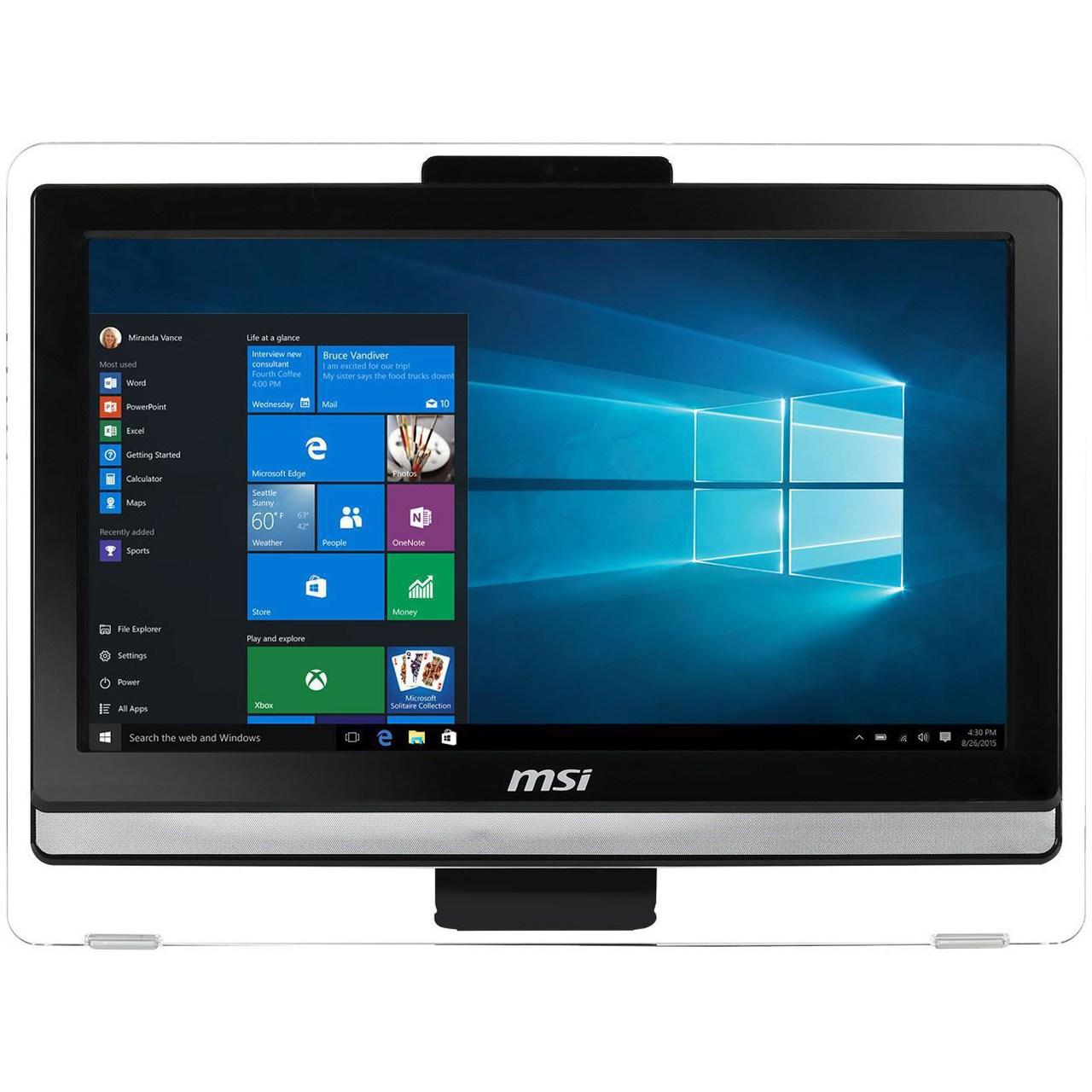 کامپیوتر همه کاره 19.5 اینچی ام اس آی مدل Pro 20 EDT 6QC - A | MSI Pro 20 EDT 6QC - A - 19.5 inch All-in-One PC