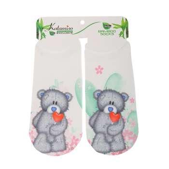 جوراب دخترانه کاتامینو طرح خرس زخمی