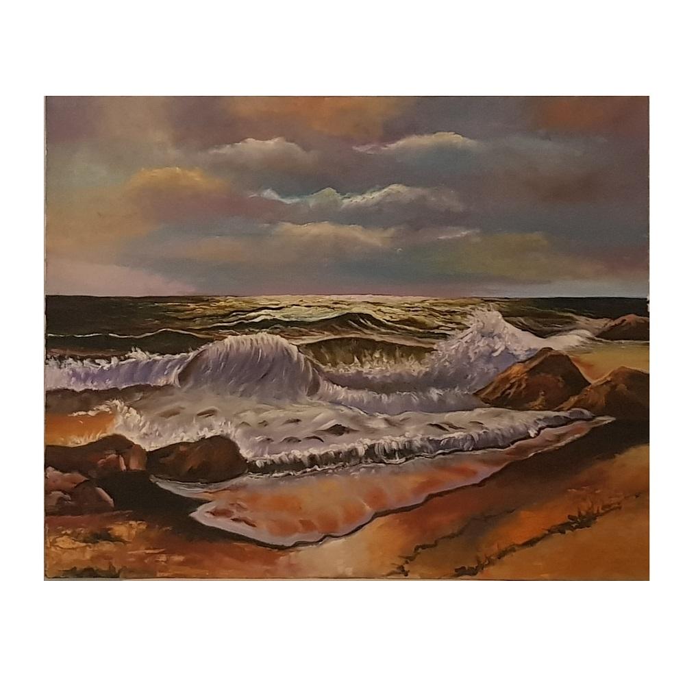 خرید                      تابلو نقاشی رنگ روغن طرح دریا