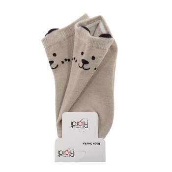 جوراب نوزاد فیلاردی مدل Dog2 رنگ نسکافه ای