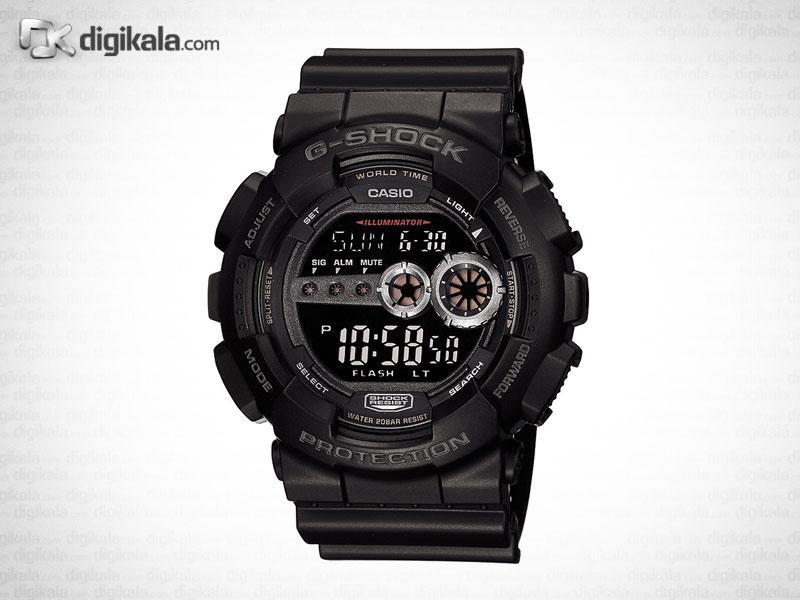 خرید ساعت مچی دیجیتالی مردانه کاسیو جی شاک GD-100-1BDR | ساعت مچی