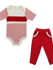 ست بادی و شلوار نوزادی پسرانه کد 012 -  - 1