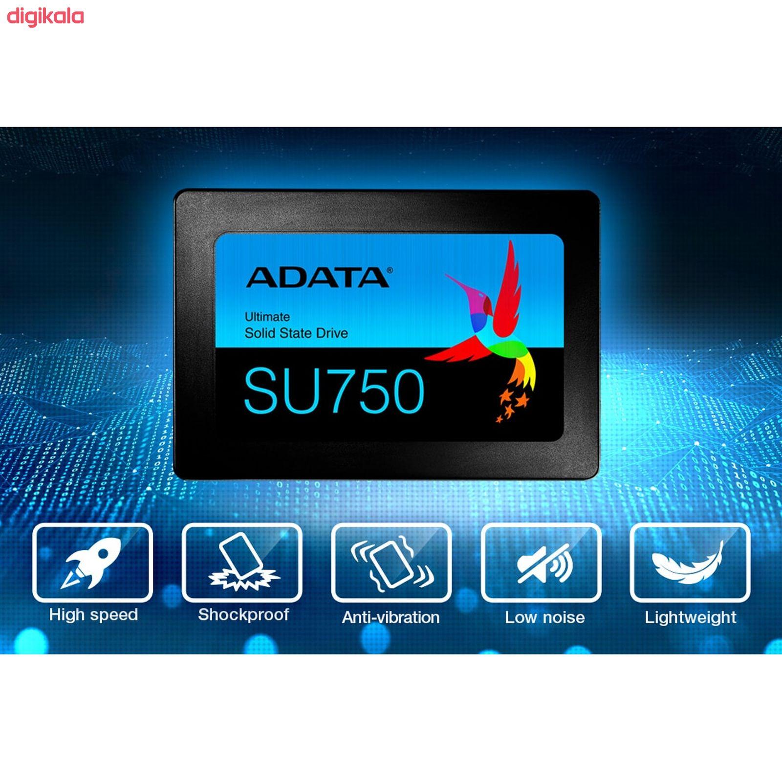 اس اس دی اینترنال ای دیتا مدل SU750 ظرفیت 256 گیگابایت main 1 5