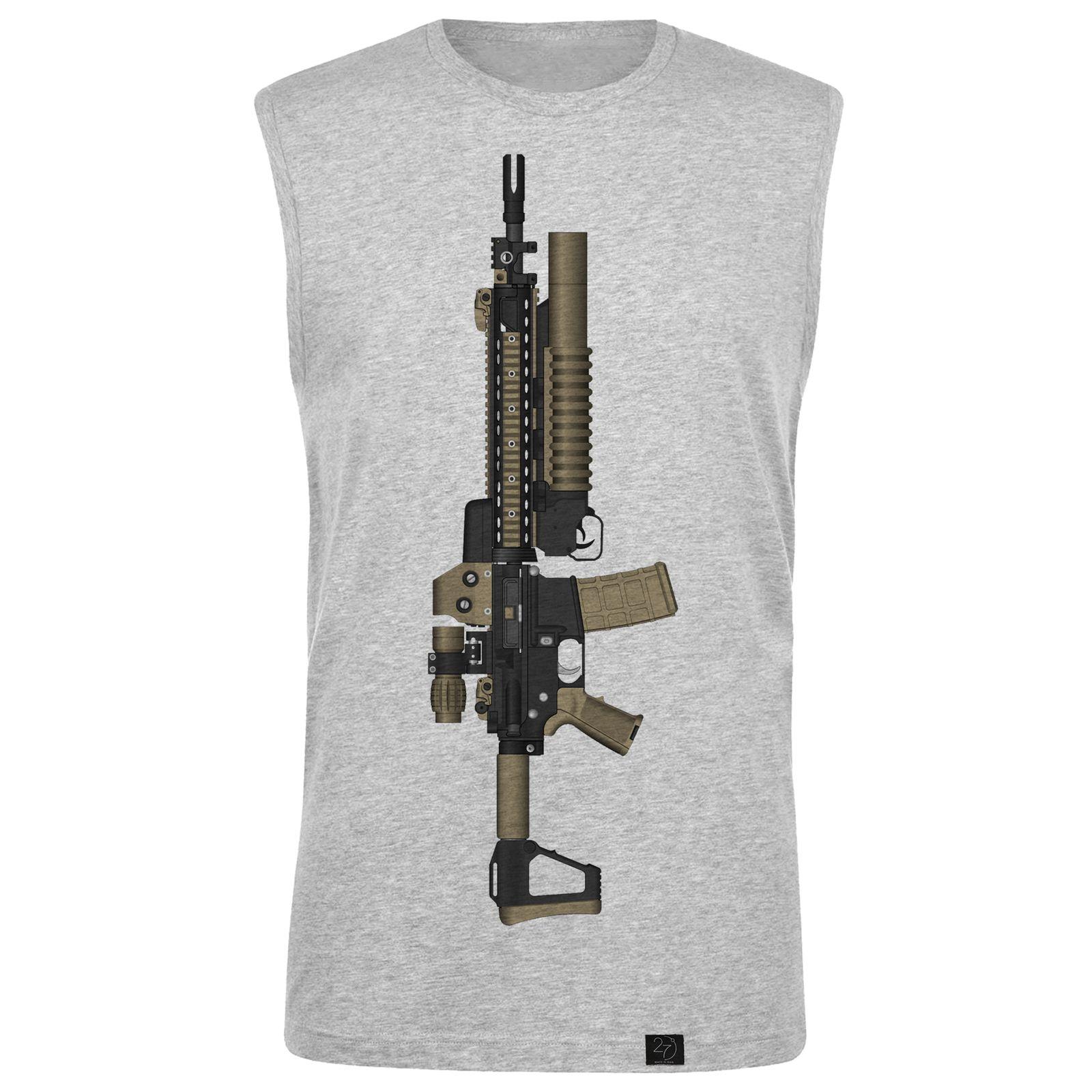 ست تاپ و شلوارک مردانه 27 طرح gun کد H16 -  - 2
