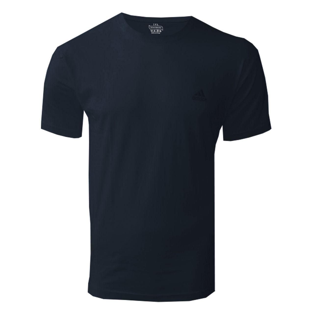 تیشرت آستین کوتاه مردانه روانبخش مدل D2M کد 20466 رنگ سرمه ای