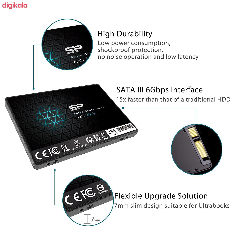اس اس دی اینترنال SATA3.0 سیلیکون پاور مدل Ace A55 ظرفیت 256 گیگابایت main 1 5