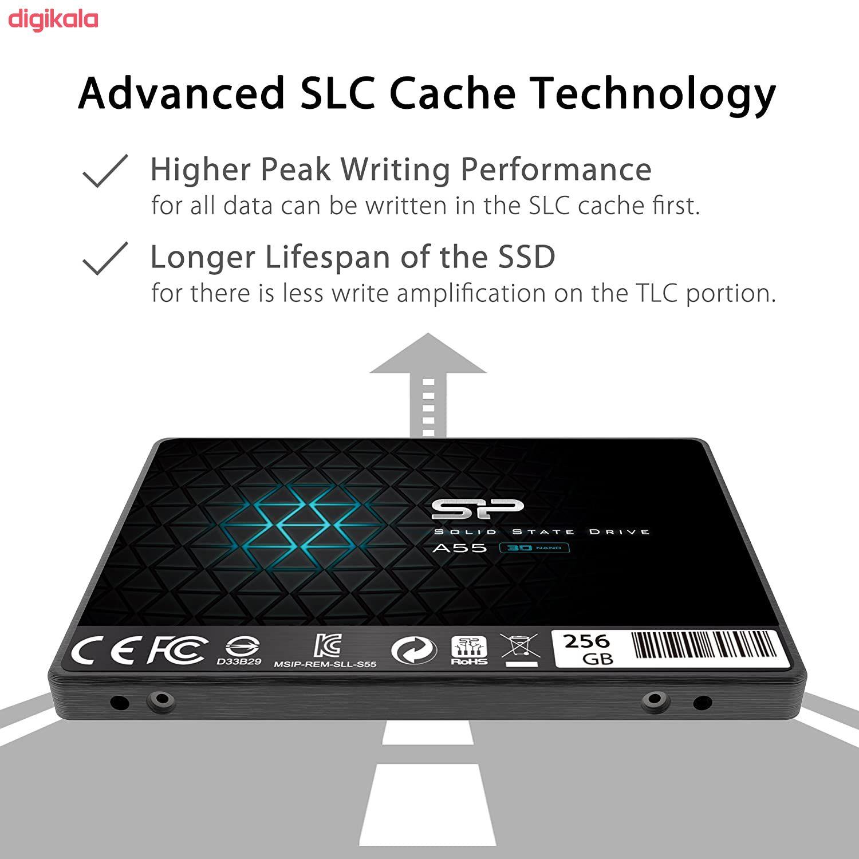 اس اس دی اینترنال SATA3.0 سیلیکون پاور مدل Ace A55 ظرفیت 256 گیگابایت main 1 7