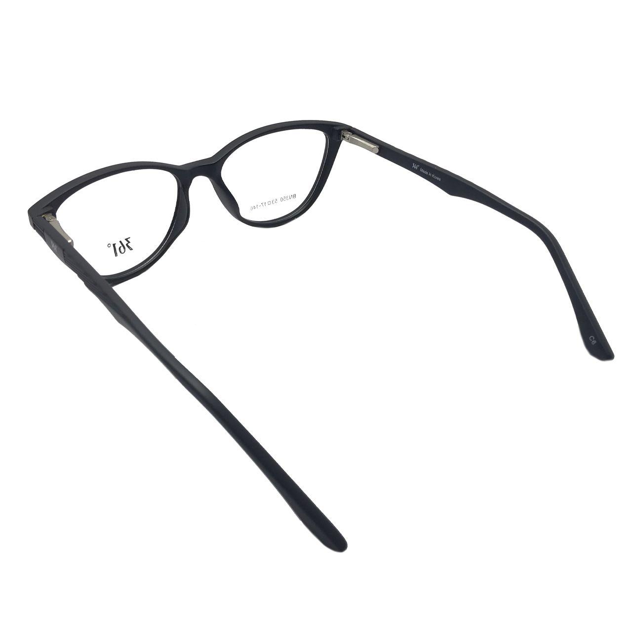 فریم عینک طبی زنانه 361 درجه کد BN350 -  - 4
