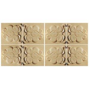 دیوارپوش تندیس و پیکره شهریار مدل آمای کد W2020-03 بسته 8 عددی