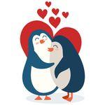استیکر مستر راد طرح پنگوئن رمانتیک مدل HSE 018