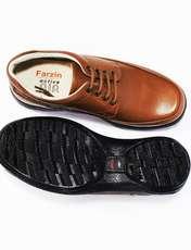 کفش روزمره مردانه فرزین کد mbw003 رنگ گردویی -  - 2