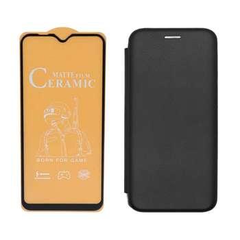 کیف کلاسوری مسیر مدل MMGNT-MCRMCM-1 مناسب برای گوشی  موبایل سامسونگ Galaxy A20s به همراه محافظ صفحه نمایش مات