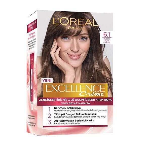 کیت رنگ مو لورآل مدل Excellence شماره 6.1 حجم 50 میلی لیتر بلوند تیره -  - 1