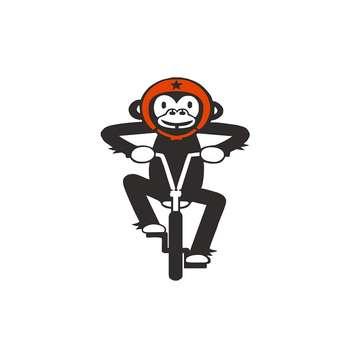 برچسب بدنه خودرو طرح میمون دوچرخه مدل IRsh