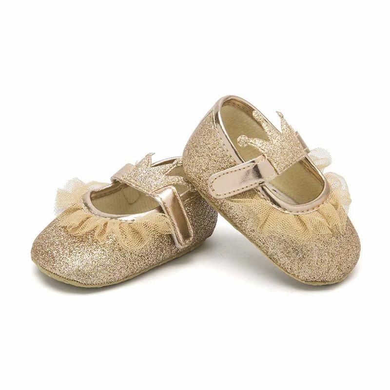 پاپوش نوزادی دخترانه طرح تاج کد M244 -  - 2