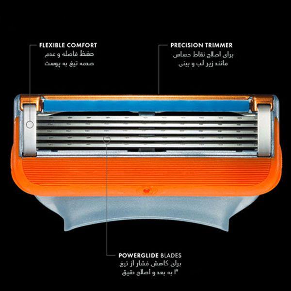 تیغ یدک ژیلت مدل Fusion Power 5 بسته 4 عددی -  - 2