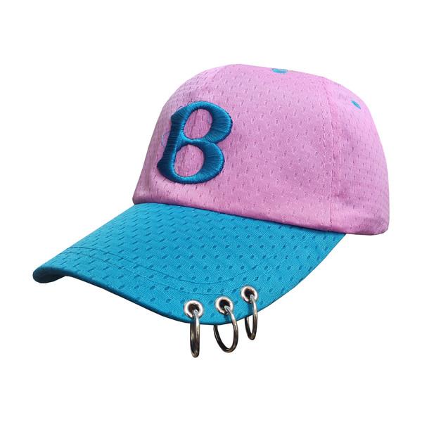 کلاه کپ طرح B کد 30456 رنگ صورتی