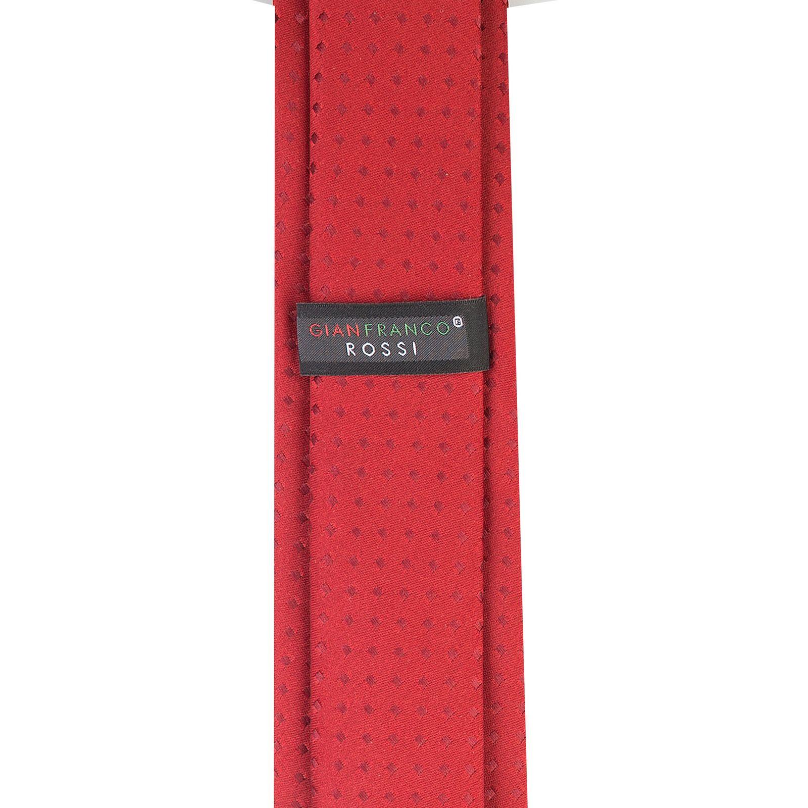 ست کراوات و دستمال جیب و گل یقه کت مردانه جیان فرانکو روسی مدل GF-PO229-BE -  - 3