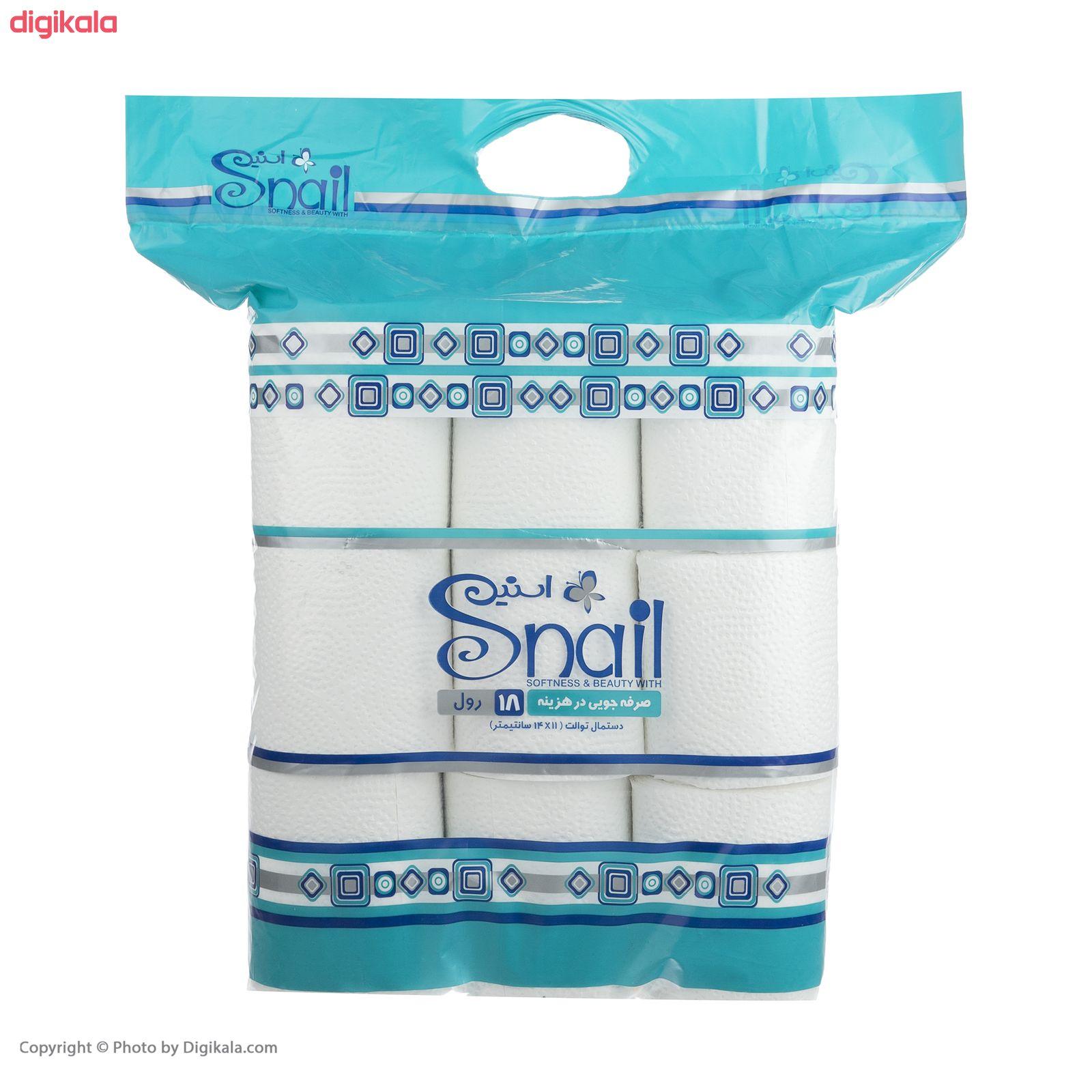 دستمال توالت اسنیل کد 01 بسته 18 عددی main 1 2