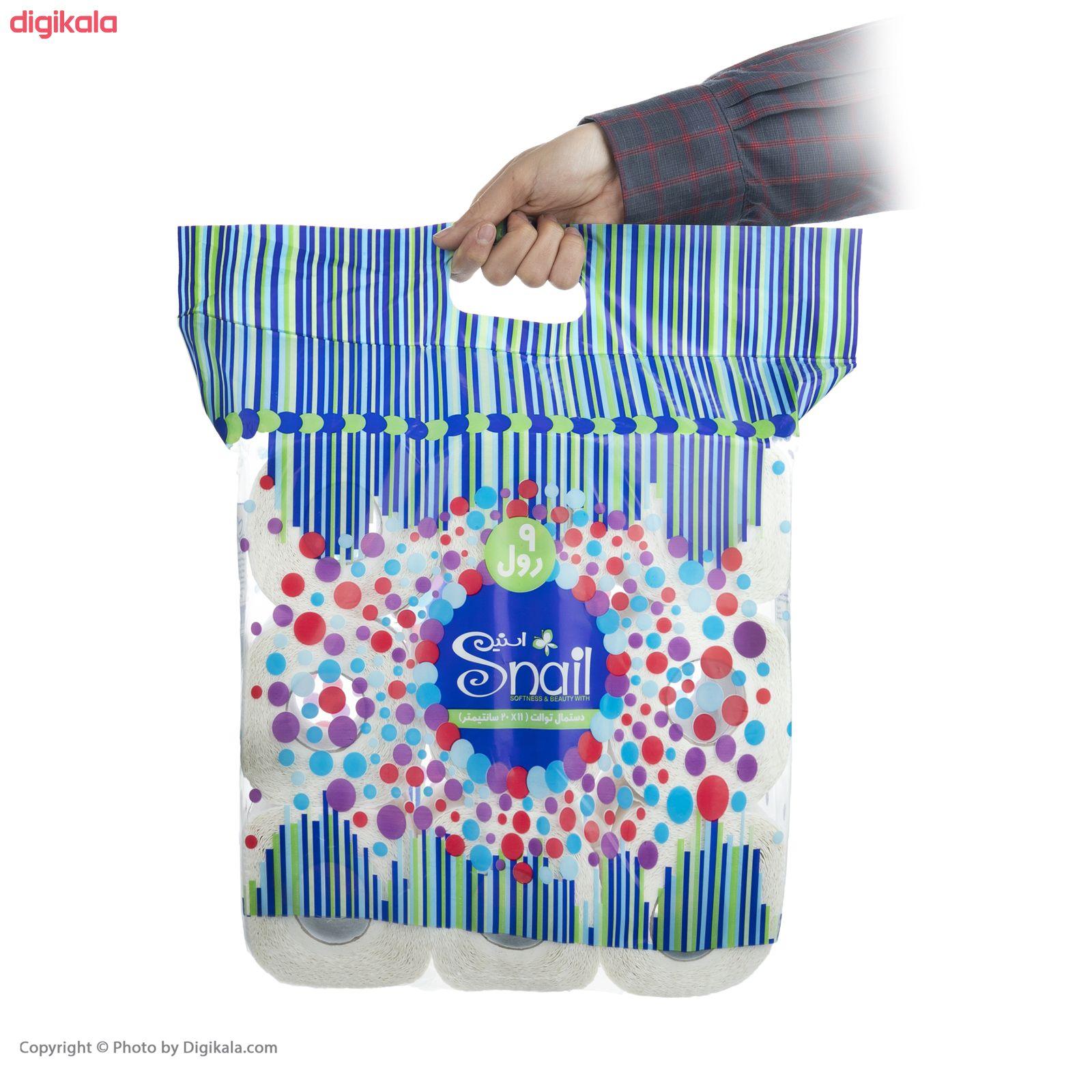 دستمال توالت اسنیل کد 01 بسته 9 عددی main 1 3