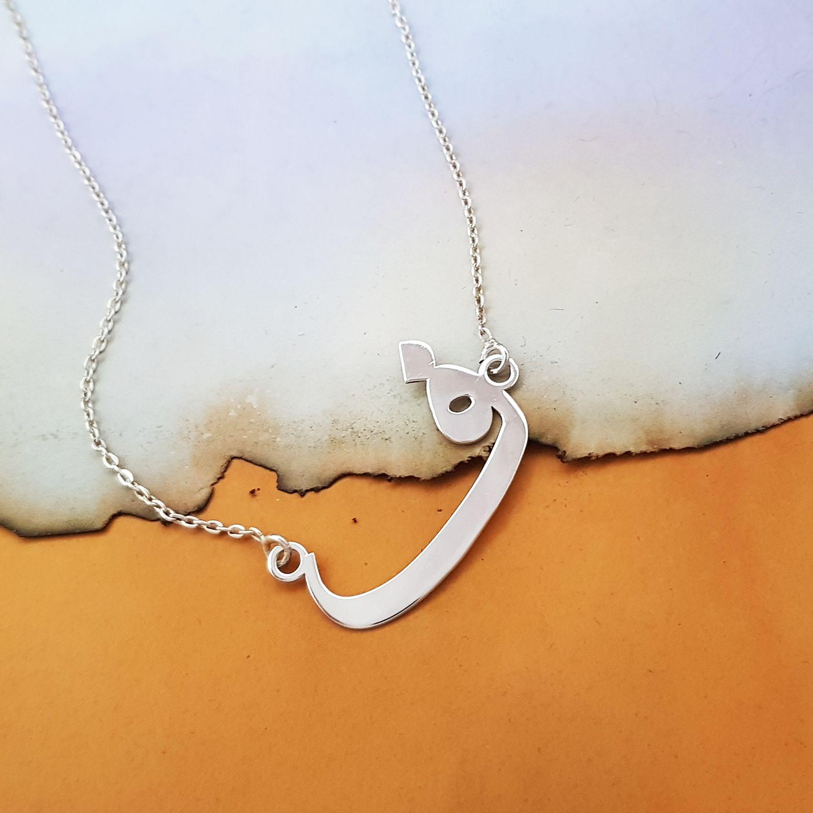 گردنبند نقره زنانه ترمه 1 طرح ف کد A-560 -  - 3