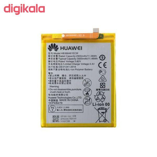 باتری موبایل مدل HB366481ECW ظرفیت 3000 میلی آمپر ساعت مناسب برای گوشی موبایل هوآوی P9/P9 Lite main 1 2