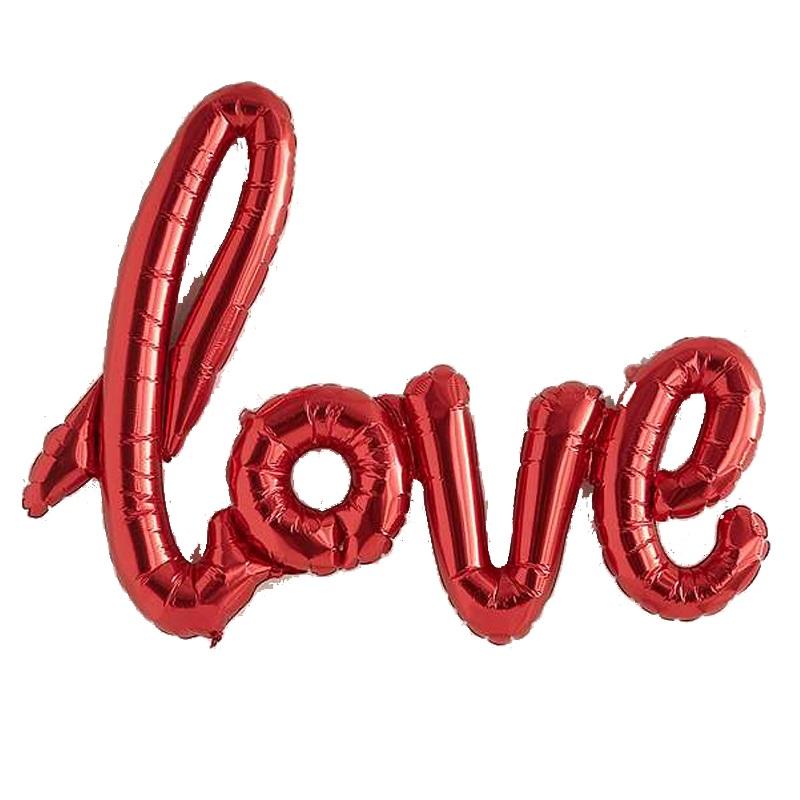 بادکنک فویلی طرح love