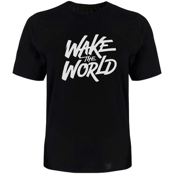 تی شرت آستین کوتاه مردانه 27 طرح World کد TR02 رنگ مشکی