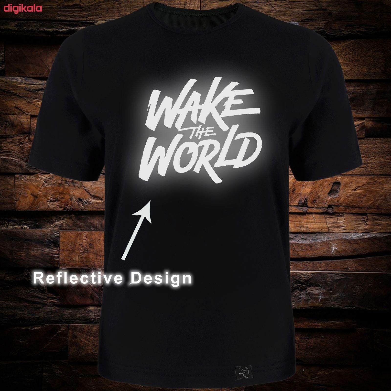 تی شرت آستین کوتاه مردانه 27 طرح World کد TR02 رنگ مشکی main 1 1