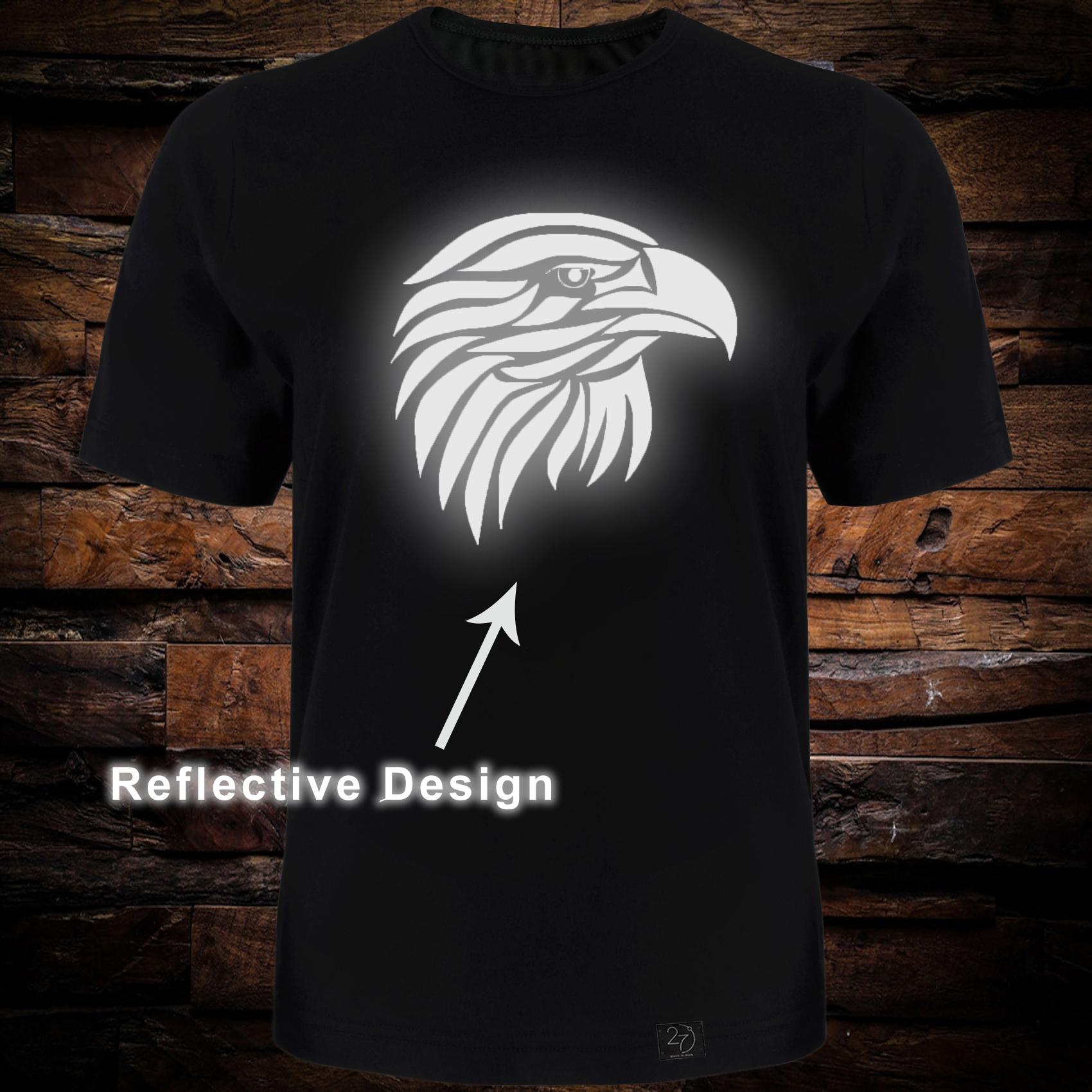تی شرت آستین کوتاه مردانه 27 طرح عقاب کد TR05 رنگ مشکی -  - 1