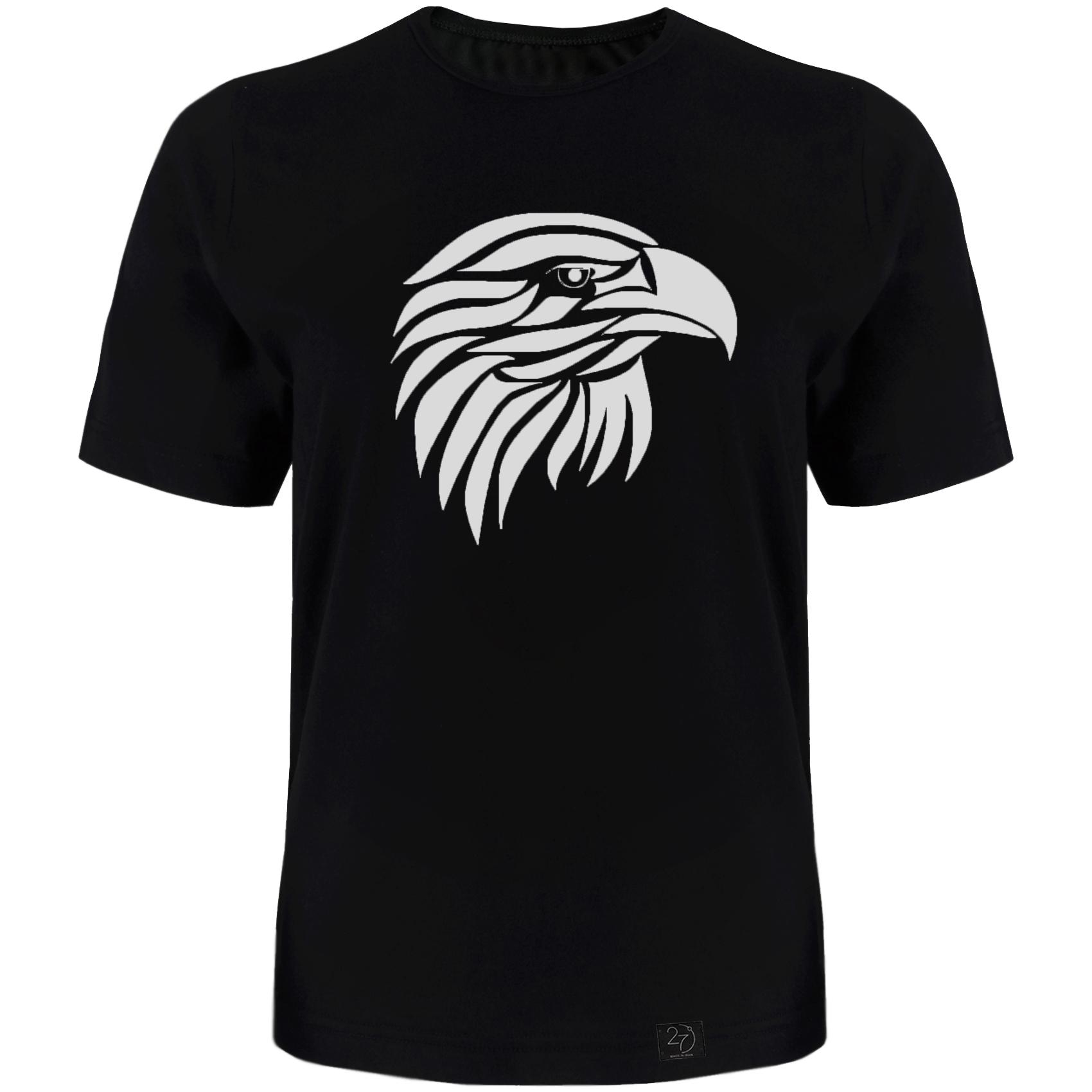 تی شرت آستین کوتاه مردانه 27 طرح عقاب کد TR05 رنگ مشکی