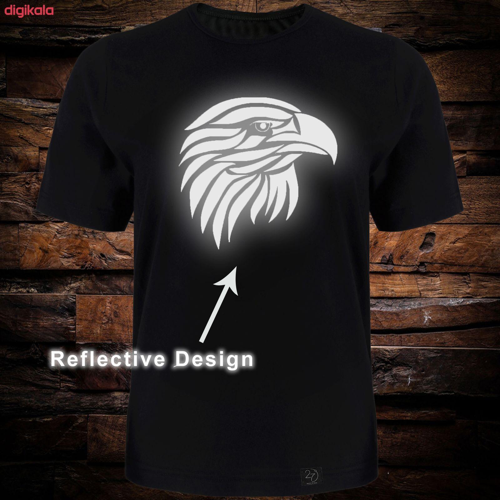 تی شرت آستین کوتاه مردانه 27 طرح عقاب کد TR05 رنگ مشکی main 1 2