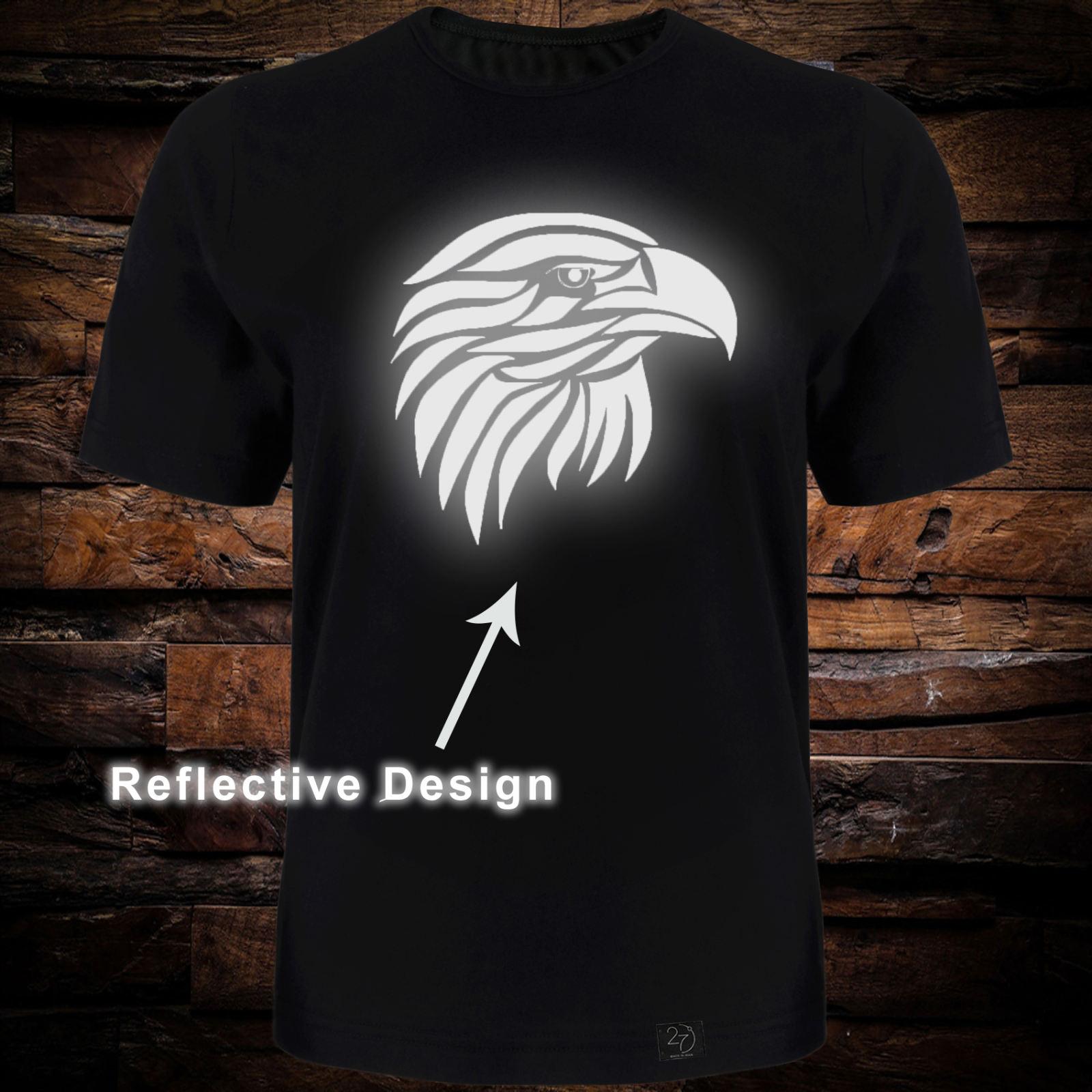 تی شرت آستین کوتاه مردانه 27 طرح عقاب کد TR05 رنگ مشکی -  - 2