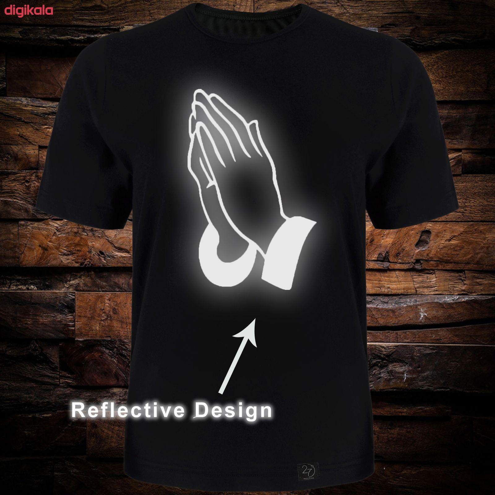 تی شرت آستین کوتاه مردانه 27 طرح دست کد TR06 رنگ مشکی main 1 1