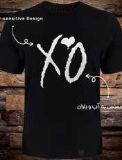 تی شرت آستین کوتاه مردانه 27 طرح XO کد TR08 رنگ مشکی -  - 1
