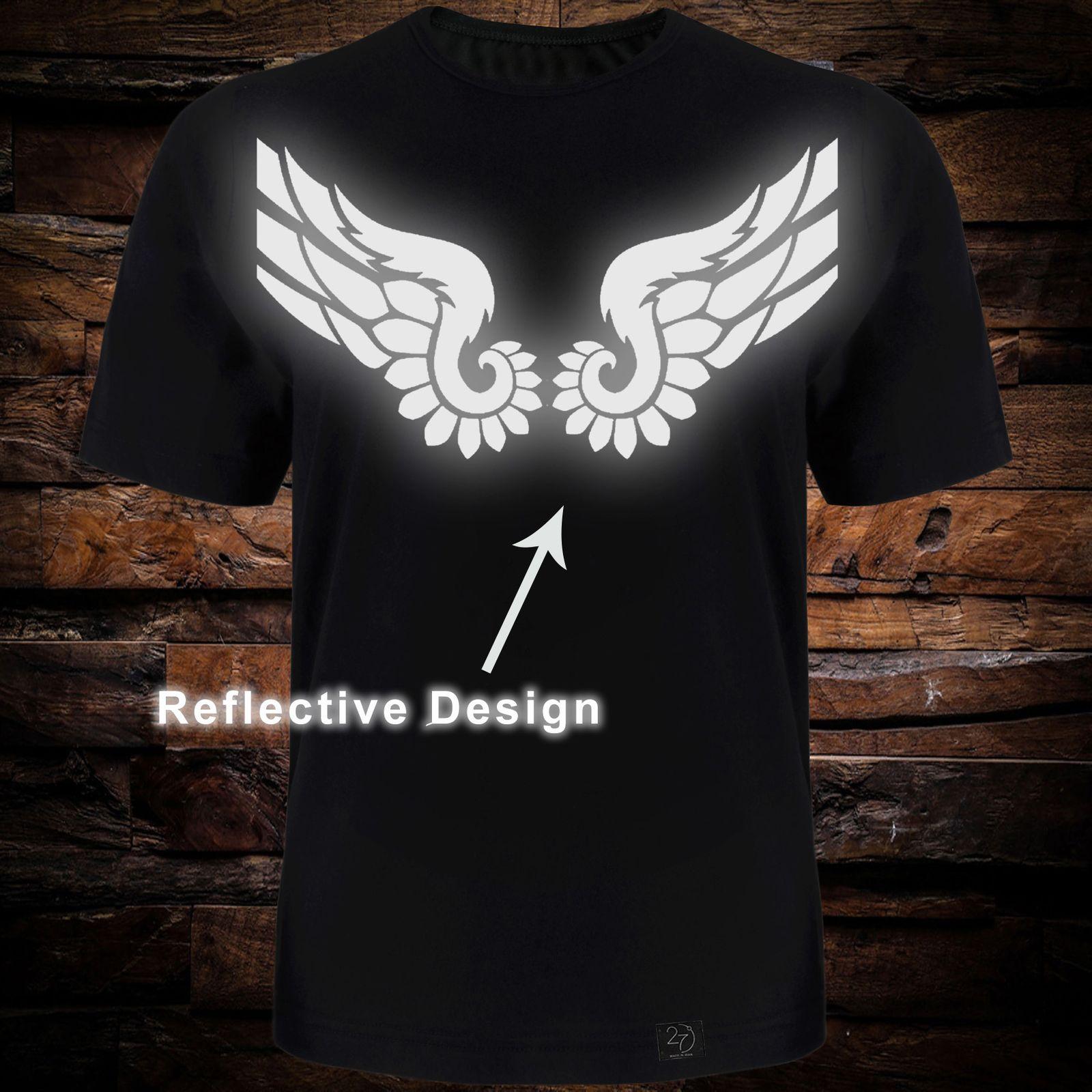 تی شرت آستین کوتاه مردانه 27 طرح بال کد TR09 رنگ مشکی -  - 2