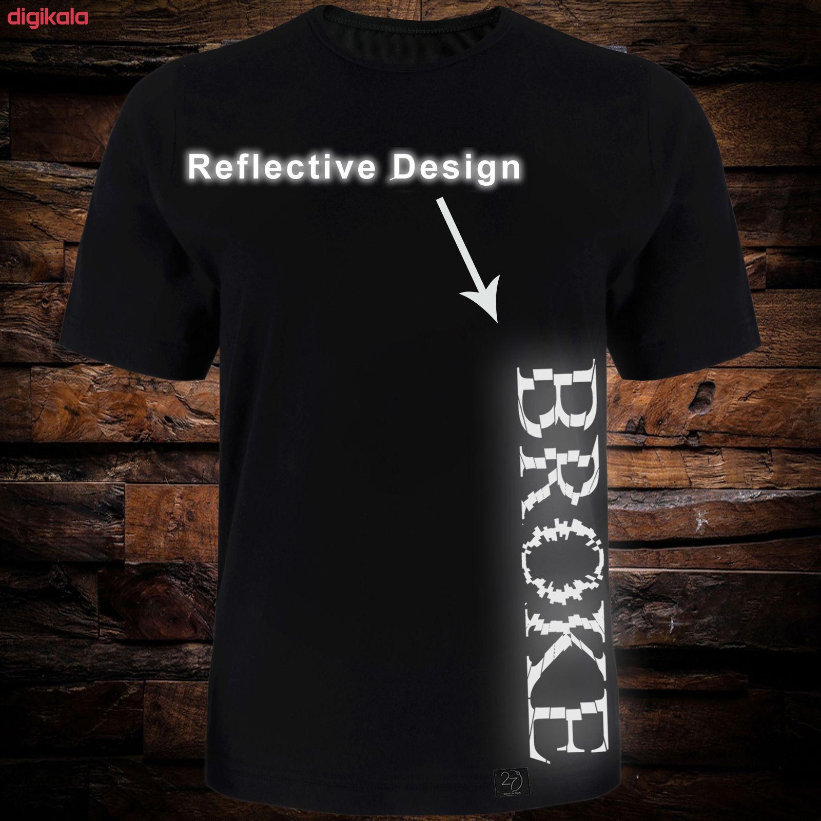 تی شرت آستین کوتاه مردانه طرح Broke کد TR10 رنگ مشکی main 1 2